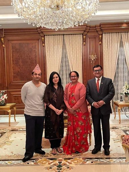 Dinner at my residence with Dr. Banshidhar Mishra, Ambassador of Nepal to Bangladesh &  Mrs. Durga Mishra