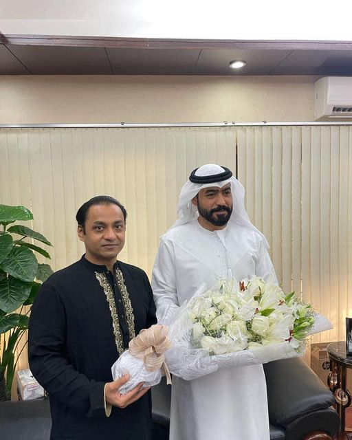 Morning tea withAbdulla Ali AlHmoudiIn Embassy of the United Arab Emirates