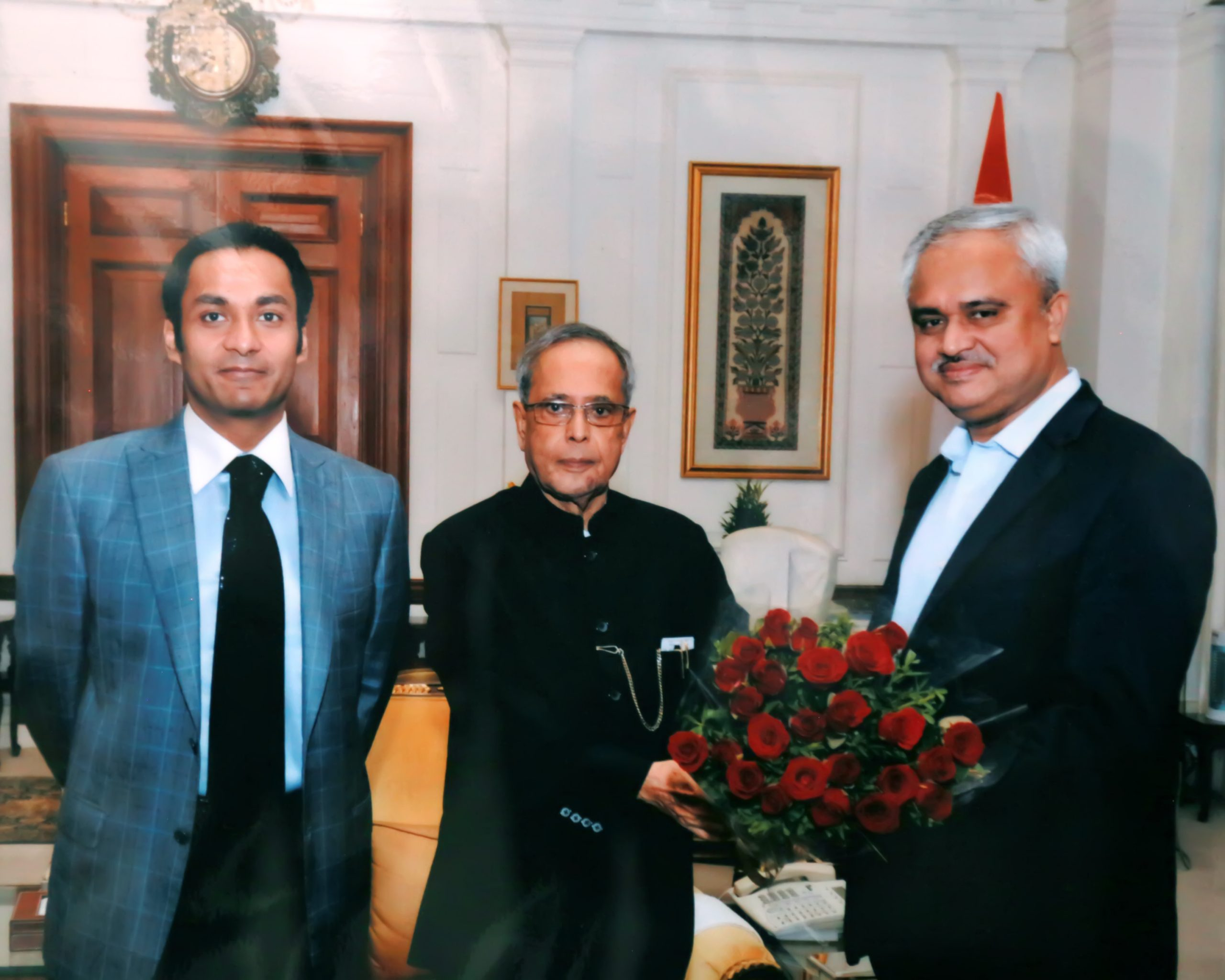With Honorable president of india Mr Pranab Mukherjee