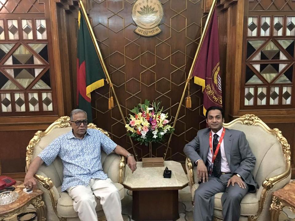 With honourable President of Bangladesh.
