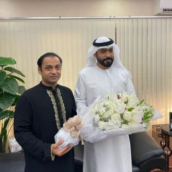 Morning tea with Abdulla Ali AlHmoudi In Embassy of the United Arab Emirates.