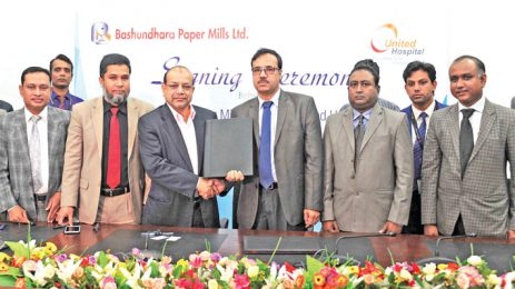 United Hospital signs deal with Bashundhara Paper Mills for tissue paper