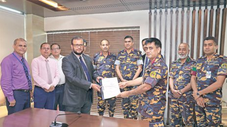 Bashundhara hands over land deed to Ansar-VDP