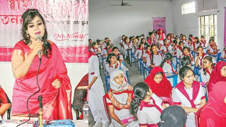 Monalisa arranges seminar on menstrual hygiene in Khulna