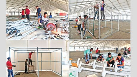 Work on ICCB isolation centre progressing fast