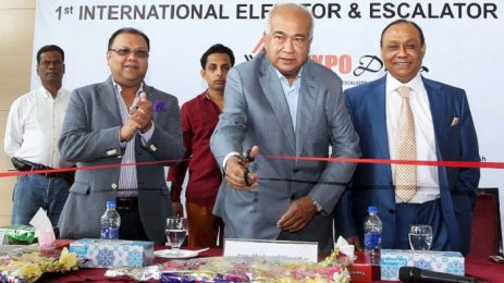 Ahmed Akbar Sobhan attended the function as the special guest in International Elevator and Escalator Expo 2015