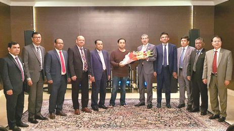 Sayem Sobhan Anvir Greets Newly-Appointed Dhaka Bank Managing Director