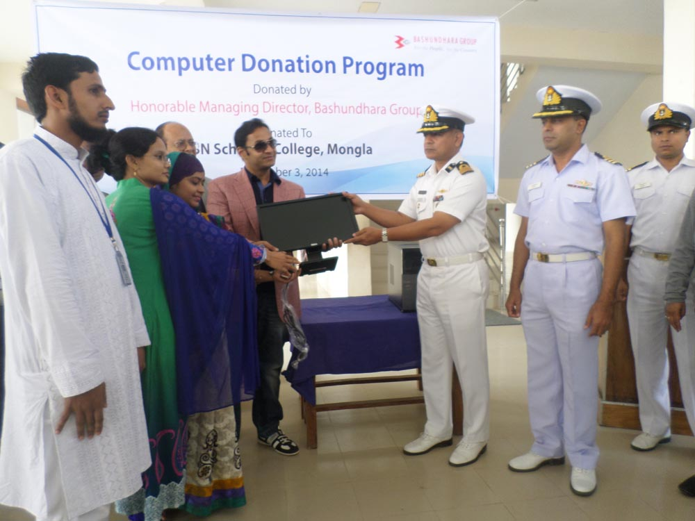 Sayem Sobhan Anvir Donated Computers to BN School & College