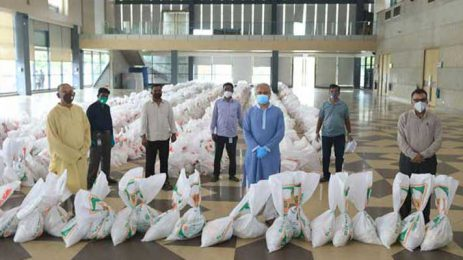 Bashundhara Group provides food items to newspaper hawkers
